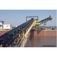 Inclined Roller Mobile Conveyor Belt System Fire Resistant With Wheels Manufactures