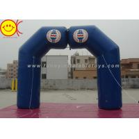 Blue Inflatable Arch Incorporate Various Styles / Sizes For Sporting Activities Manufactures