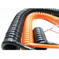 Coiled Power Cord Spring Coiled Electrical Wire For Signal Transmission Manufactures