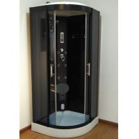 900mm Sector Sliding Glass Shower Cabin With Black Frame / Computer Control Manufactures