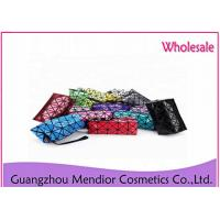 Buy cheap Geometry Lattice Large Flat Makeup Bag Fashion Bright L5 X W2 X H3 Dimension from wholesalers