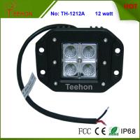 Professional Flush mount 12W off Road 4X4 CREE LED Work Light with IP67, CE, RoHS Manufactures