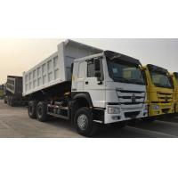 White SINOTRUK HOWO 371 Heavy Duty Dump Truck 6 By 4 Ten Wheel Large Capacity Manufactures