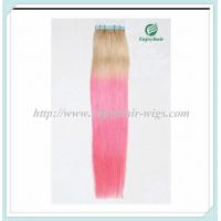 "Tape Hair extension 16""-28""L,100s/pack T613#/pink# color Straight malaysian virgin hair Manufactures"