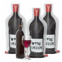 Clear Travel PVC Wine Bottle Chiller Bag , Protective Bubble Wine Sleeve / Skin Manufactures