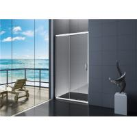 Quality Frosted Glass Aluminium Frame Sliding Shower Door For Bathroom for sale