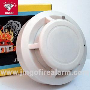 China fire alarm 9v battery powered portable smoke detector sensor with buzzer alarm on sale