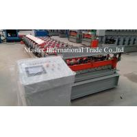 China Colored IBR Roofing Sheet Roll Forming Machine With PLC Control 10 - 15m / min on sale