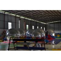 Sliver Mirror Ball Inflatable Marketing Products Lightweight With T-show Manufactures