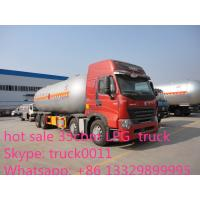 SINO TRUK HOWO brand LPG gas tank truck for sale, factory sale HOWO brand 35.5m3 bulk propane lpg gas tank truck Manufactures
