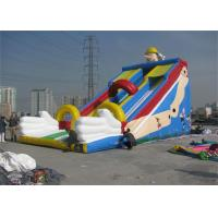 Large Commercial Inflatable Slide, Outdoor Inflatable Slide For Sport Games Manufactures