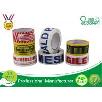 Customized Carton Sealing Water Glue BOPP Packing Tape With Label Manufactures