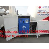 Quality good performance 5,500L lpg gas filling tank truck for retail and mobile selling, 2tons mobile lpg gas dispensing truck for sale