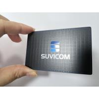 Customized Stainless Steel Matte Black Metal Business Member Card With Color Painted Logo Manufactures