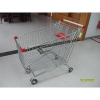 Quality Zinc Plated / Colorful Coating popular Supermarket Shopping Carts 240L for sale