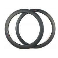 Quality Hookless 60mm Carbon Road Bike Rims Clincher Tubeless 700c With Matte / Glossy for sale
