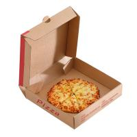 China Brown Packaging Paper Box , Cardboard Pizza Boxes Eco - Friendly Design on sale