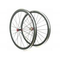 Aluminum Bicycle Wheels With Alloy Brake , Road Bike Deep Section Carbon Wheels  Manufactures
