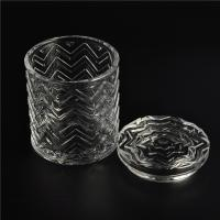 Clear home decoration extra large glass candle holders with glass lid Manufactures