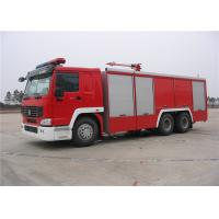 Monolithic Clutch Pumper Fire Truck , Fire Fighting Vehicles With Flat Top Four Door Length Cab Manufactures