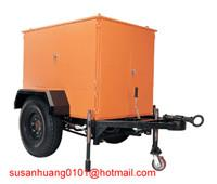 Mobile type Transformer oil filtration machine enclosed in canopy and mounted on trailer Manufactures