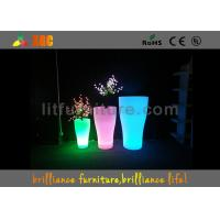 Indoor And Outdoor LED Flower Pots With Pe Material , Remote Control Battery Manufactures