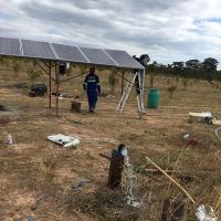 Outdoor 2.2kw 220v Three Phase Solar Pumping System For Irrigation In Zambia Manufactures