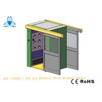 Personal Air Shower Room Auto Single - Leaf Slidng Doors For Double People Manufactures