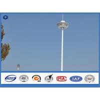15m - 50m White Powder Coated High Mast Light Pole Over 30 years Service life Manufactures