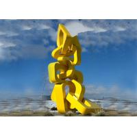 Urban Large Abstract Metal Sculpture Modern Style For Landscape Harmony Towers Shape Manufactures