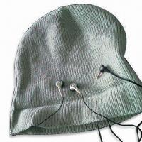 Men's Knitted Hat with Earphones, Suitable for Promotional Purposes, Made of 100% Acrylic Manufactures