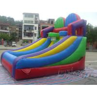 Durable PVC Tarpaulin Inflatable Sports Games , Giant School Slide Manufactures