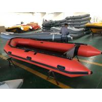 Quality Hypalon inflatable boat for rescue Orange color Aluminum floor 470cm length for sale