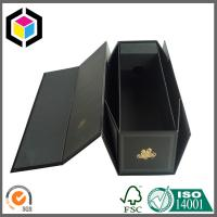 CMYK Full Color Black Folding Paper Wine Packaging Box; Wine Packaging Box Manufactures