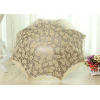 3 Fold Strong Windproof Folding Umbrella Sun Parasol Umbrella With Beautiful Lace Manufactures