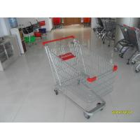 Unfolding Steel Chrome Grocery Shopping Cart With Four Escalator Wheel Manufactures