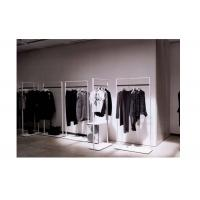 Elegant Clothes Shop Fittings Iron Powder Coated , White Complete Shop Fittings For Retail Store Manufactures