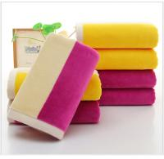 35*75cm 420gsm color bar face towel cut pile super soft towel face towel