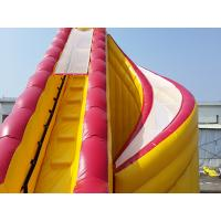 Quality Outdoor Kids Inflatable Water Slide With Pool / PVC Tarpaulin Water Park Games for sale