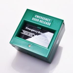 Plastic Notifier Manual Call Point Explosion Proof , Emergency Break Glass Door Release Manufactures