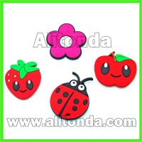 Buy cheap Custom soft pvc cartoon animal flower food fruit fridge magnet for home from wholesalers