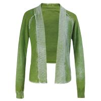 Custom made Green cotton cardigan sweater women fall Short Knit Sweater Manufactures