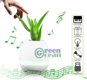 Smart Music Flower Pot Play Piano Bluetooth Speaker LED Flowerpot Manufactures