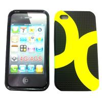 Black / Yellow Toughness Cell Phone Protective Cases For Apple iPhone Manufactures
