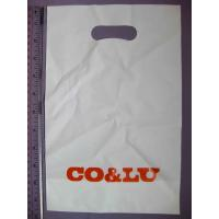 Customized Plastic Die Cut Handle Bags Promotional Carrier Bags Manufactures