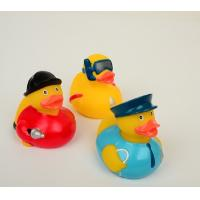 Postman Fireman Custom Rubber Ducks Gift 8.5cm Length For Promotional Gift Manufactures
