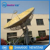 9.0m big size 2-axis or 3-axis motorized ku band earth station satellite communication antenna Manufactures