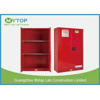 Red Color Flame Proof Storage Cabinets / Chemical Safety Cabinet 4 Gallon Manufactures