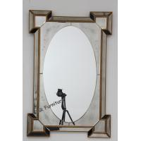 China Vintage Hotel Wall Mirror , 120cm Gold Frame Decorative Wall Mirror Panels on sale