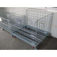 4 Sided Grocery Store Wire Mesh storage warehouse Container with four casters Manufactures